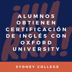 Alumnos certificaron su nivel de inglés con Oxford University