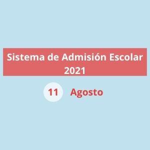 Sistema de Admisión Escolar 2021